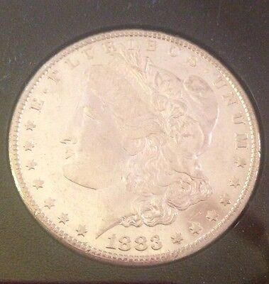 Uncirculated 1883 CC $1 Morgan Carson City Dollar GSA Hoard with Box & Papers