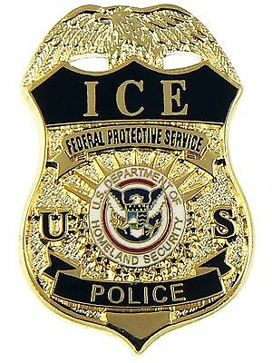 ICE Federal Protective Service Police Mini Badge Pin