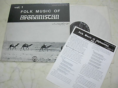 FOLK MUSIC OF AFGHANISTAN Vol.1 LYRICHORD STEREO LP 70s + HEFT *NM*
