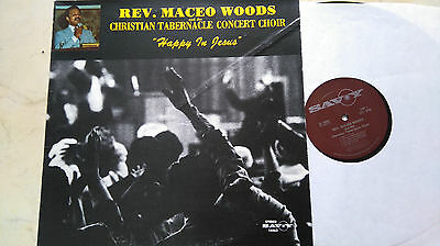 REV. MACEO WOODS Happy In Jesus *60s US SAVOY Label*Vinyl LP*