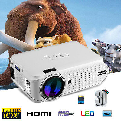 Multimedia Mini Portable LED Projector Home Cinema Theater USB/AV/SD/HDMI 1080P