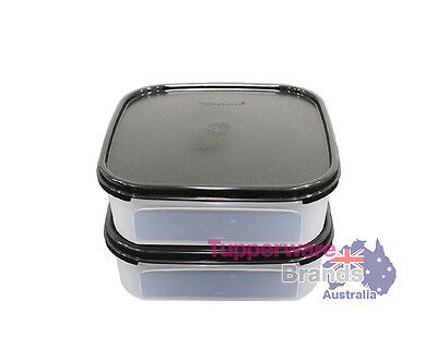 New Tupperware 2Pcs Modular Mates Square I Double Mm Container Air Tight
