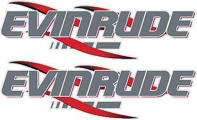 EVINRUDE - 330mm X 100mm X 2 - OUTBOARD DECALS