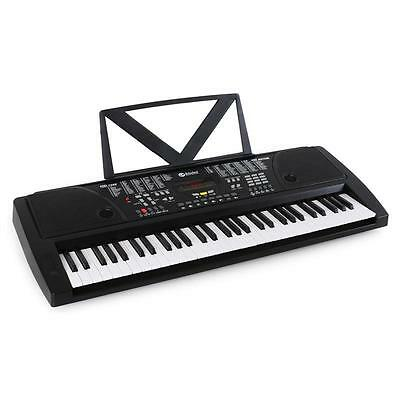 PORTABLE 61 KEY ELECTRIC KEYBOARD & RECORDING LEARNING PIANO w. STEREO SPEAKERS