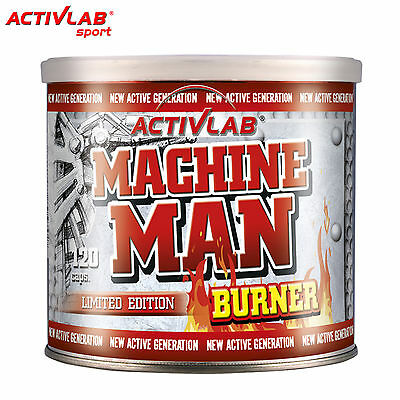 Machine Man Burner 120 Caps. Fat Burner Weight Loss Thermogenic Pills Tryptophan