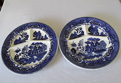 Pattern Blue Willow By House Of Blue Willow Japan Two Grill Plates Restaurant