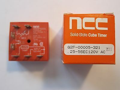 NEW NCC Solid State Cube Timer Delay Relay Q2F-00005-321 More Listed!