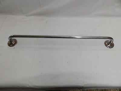 "Vintage 24"" Chrome Brass Towel Bar Bathroom Old Kitchen Hardware 2985-14"