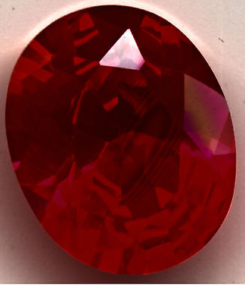 Ruby Oval 3ct 8x10 Lab Created