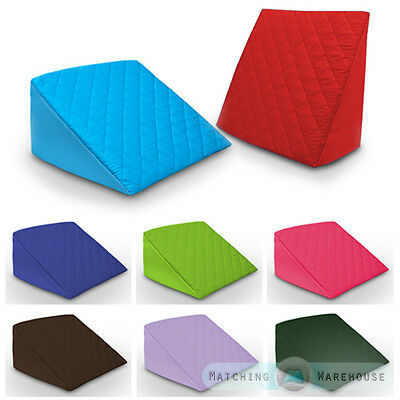 Foam Bed Wedge Support Pillow Washable Quilted Cover Maternity Pregnancy Nursing