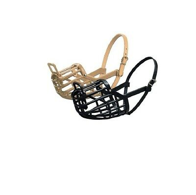 Italian Basket Muzzle for Dogs - all sizes - adjustable leather straps