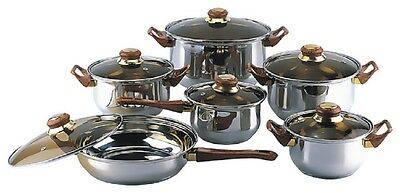 18/10 STAINLESS STEEL Gourmet Chef 12-piece Covered Cookware Set Pots and Pans