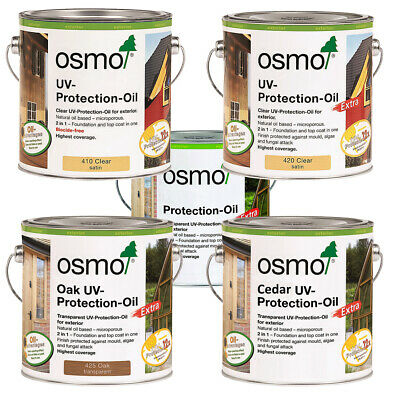 Osmo UV Protection Oil 410 | 420 | 424 | 425 Oak | 426 | 427 | 428 Cedar | 429