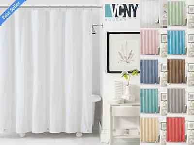 VCNY Peva Plastic Shower Curtain Liners With Magnets