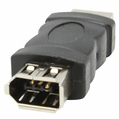 Firewire 1394 6 Pin Female to USB Male Adaptor Plug PC Laptop Computer IEEE