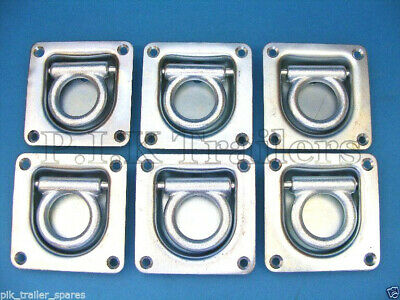 *FREE P&P* 6 x Recessed Cargo Lashing Deck Ring Tie Down Trailers & Horse Box