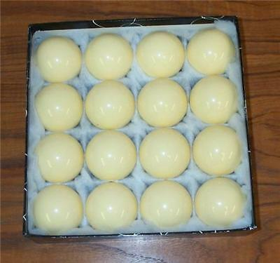 16 CUE BALLS Regulation Size POOL BILLIARD New-in-Box Q white FREE SHIP 2 1/4""