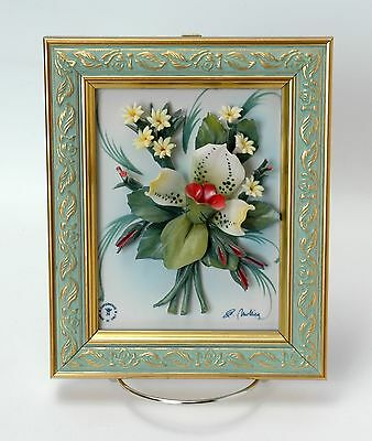 Authentic Crown N Stamped Made in Italy Signed by J Moltieg Capodimonte Flowers