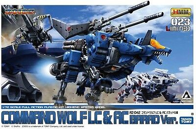 Takara Tomy Zoids HMM 023 Limited Command Wolf LC & AC Barad Ver. 1/72 Model Kit