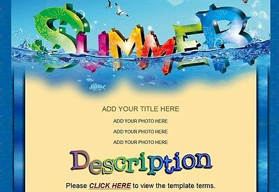 SUMMER SWIM ebay Auction Template colorful GREAT FOR SWIM WEAR BATHING SUITS
