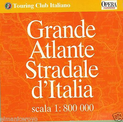 Cd Rom Grande Atlante Stradale D'italia Touring Club Italiano