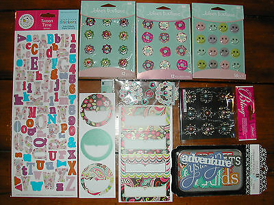 Scrapbook Bright FAMILY Spring Flowers Stickers Jolee EK LOT *55/% OFF *FREE SHIP