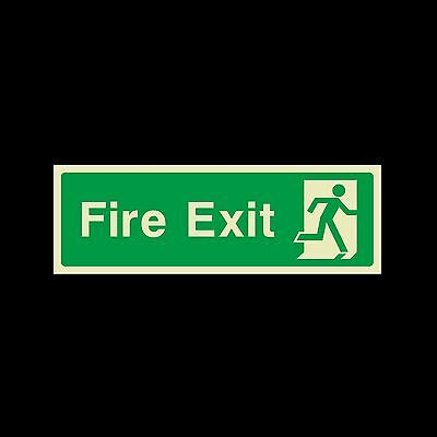 Fire Exit Final Photoluminescent Plastic Sign 300x100mm (EE75)