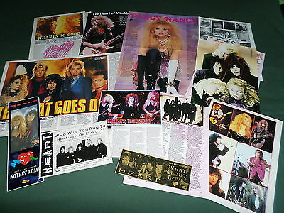 Heart - Music Celebrities - Clippings /cuttings Pack