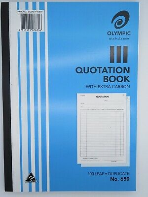 Olympic #650 Quotation Book A4 Duplicate 100Lf 140879