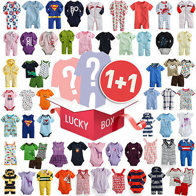 """Lucky Box"" Vaenait Baby Girls Boys 2pcs Clothes Bodysuit One-piece Top Romper"