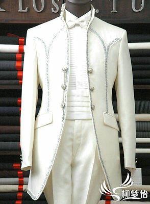 Mens Wedding Dress Suit Bridal Tuxedos Formal Groom Suits Business Suits Custom