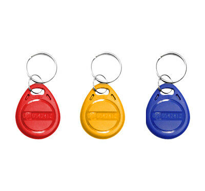 LOT 20X BADGE ACCES SANS CONTACT TAG Porte clé  RFID 125 khz Proximité controle