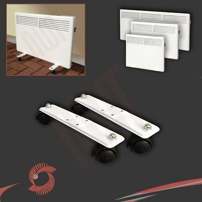 Nova Live S Feet with wheels for All Size White Panel Convector Heaters (Pair)