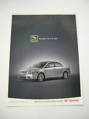 Toyota Avensis Advert from 2003 - Original