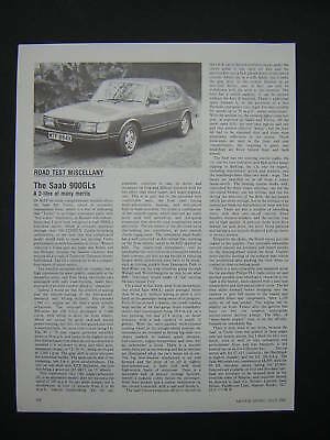 SAAB 900 GLs Road Test from 1982