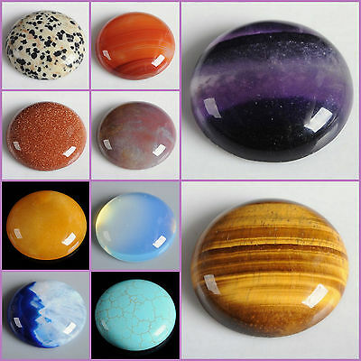 Wholesale 30mm Round cabochon CAB flatback semi-precious gemstone Save $ in bulk