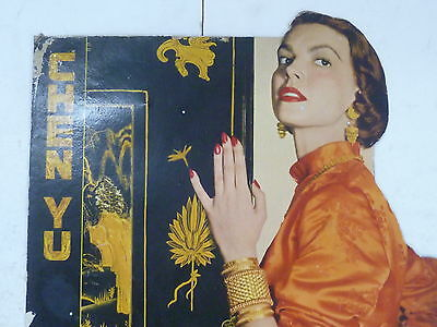 1950S Chen Yu Cosmetics Easel Back Advertising Sign / Cardboard Litho Usa