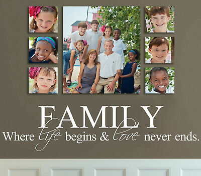 Family & Love Removable Wall Stickers Wall Quotes Art Mural Home Decor Decal DIY