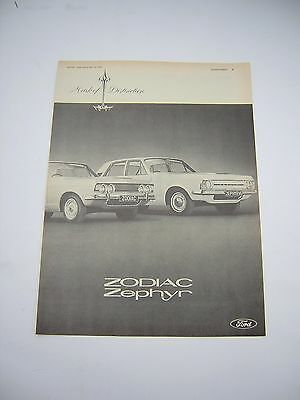 Ford Zodiac and Zephyr Advert from 1966 - Original