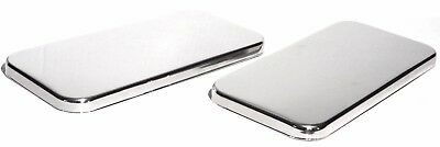 sleeper vent door cover (2) 10 1/2 X 5 plain stainless steel with for Kenworth