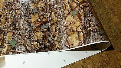 "CAMO DECAL MADE FROM 3M WRAP VINYL 48""x15"" TRUCK CAMO TREE PRINT CAMOUFLAGE"