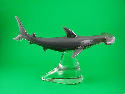 Art-Glass Hammerhead Shark Figurine