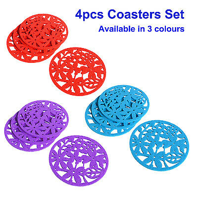 Drink Coasters,Set of 4,Assorted Colours,Placemats,Party Table Decor,Glass Mat