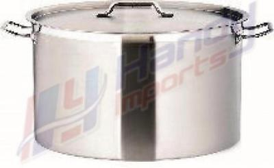 New Commercial 25L Stainless Steel 36Cm Stock Pot Chef Quality Wide Saucepan