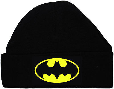 Bat Baby Batman Beanie Hat/Cap Black Newborn to 12m Superhero Acce Gift Boy Girl