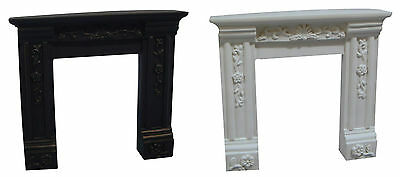 Resin Geogian Fire Surround, Dolls House Miniature, Fireplace ,Black Or White