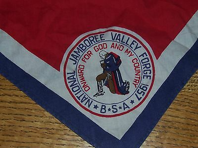 Vintage Boy Scouts of America neckerchief National Jamboree Valley Forge 1957