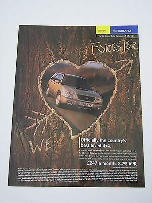 Subaru Forester 2.0 S Turbo Advert from 2002 - Original