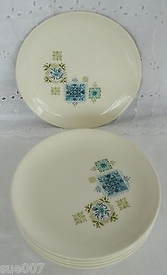 Set of 5 Vintage Taylor Smith & Taylor China FABRIQUE Bread & Butter Plates