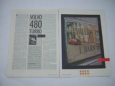 Volvo 480 Turbo Road Test from 1989 - Original